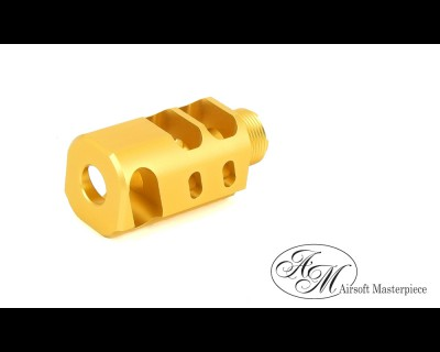 "Airsoft Masterpiece 1.5"" Compensator Type 2 - Gold"
