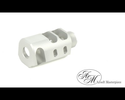 "Airsoft Masterpiece 1.5"" Compensator Type 2 - Silver"