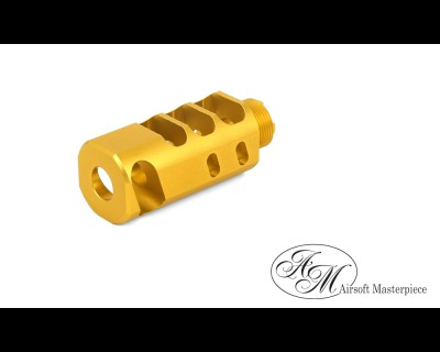 "Airsoft Masterpiece 2"" Compensator Type 6 - Gold"