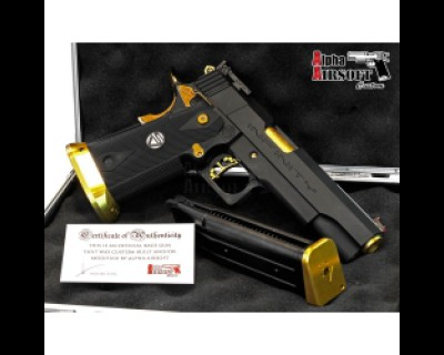 Infinity Top Shot w/ Sight Tracker IPSC Action Air Race Gun (Black Gold Edition)