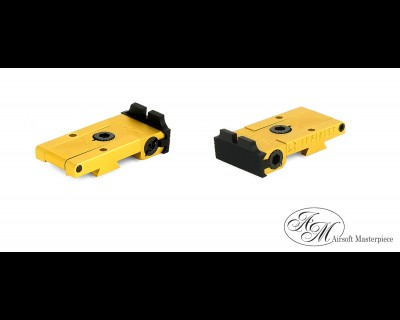 Airsoft Masterpiece Aluminum Rear Sight for Hi-CAPA - Infinity (Gold)