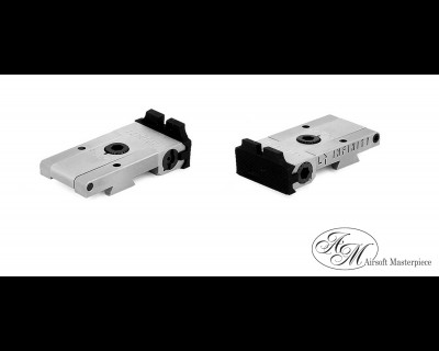Airsoft Masterpiece Aluminum Rear Sight for Hi-CAPA - Infinity (Silver)